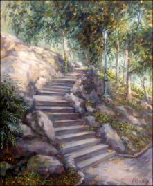 Stairway in Central Park, New York. 2003