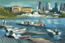Busy Day on Schuylkill River. 2005