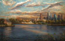 Evening Clouds over Schuylkill River and Philadelphia Skyline. 2006