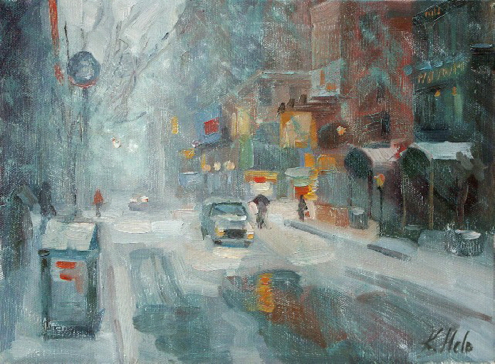 New York Street in Snow Storm. 2005