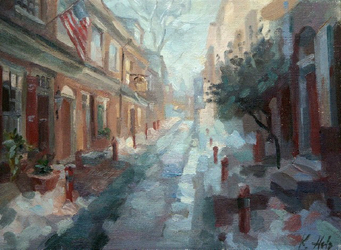 Elfreth's Alley in Winter. 2005 SOLD