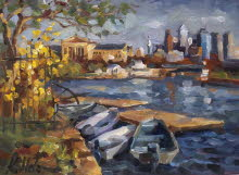 Sunny Day on Schuylkill River. 2005