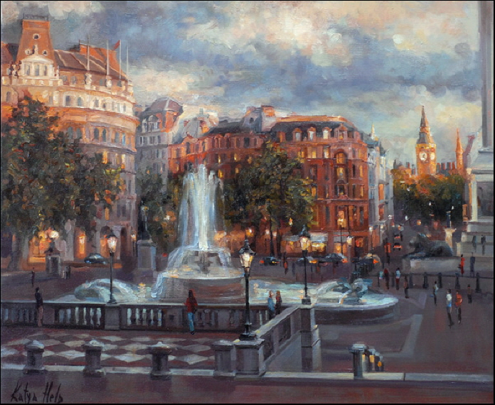 Trafalgar Square, Twilight. 2006-07